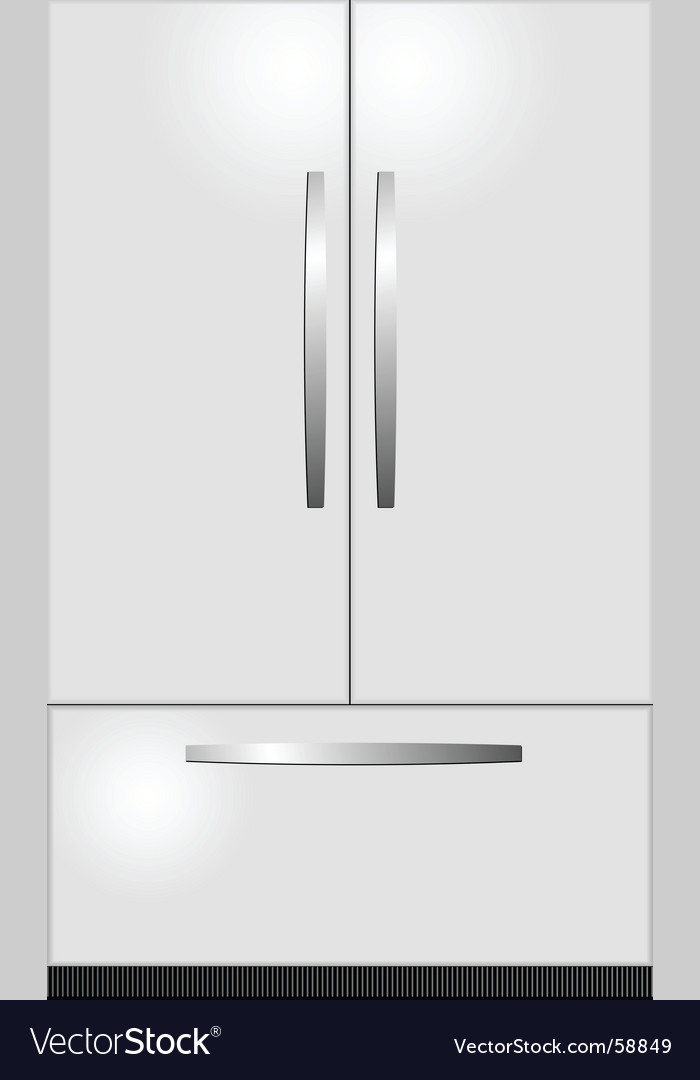 Domestic refrigerator vector | Price: 1 Credit (USD $1)