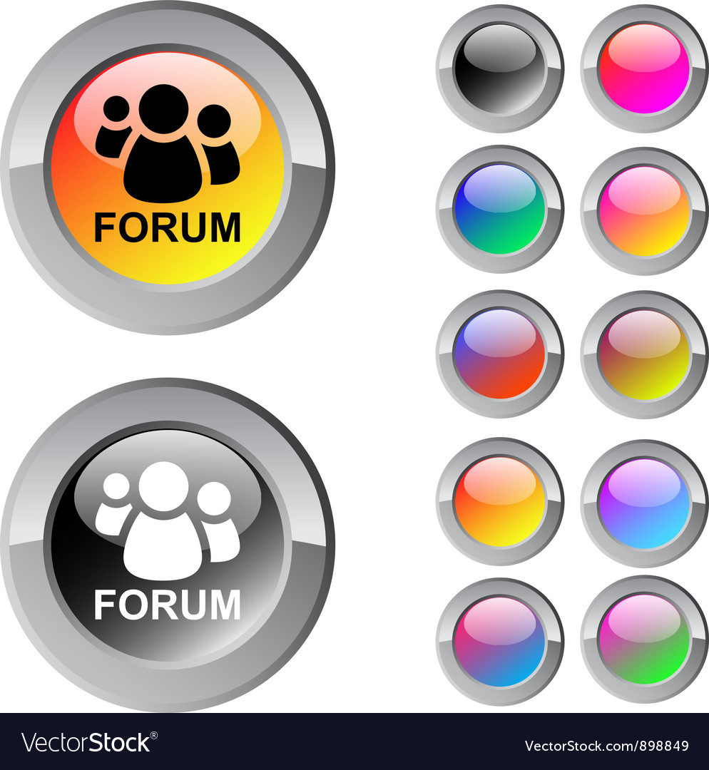 Forum multicolor round button vector | Price: 1 Credit (USD $1)