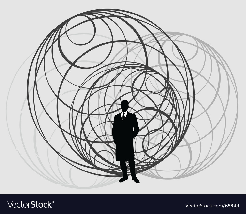 Global man vector | Price: 1 Credit (USD $1)