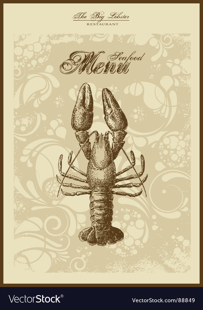 Menu fish and seafood vector | Price: 1 Credit (USD $1)