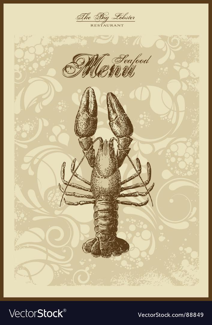 Menu fish and seafood vector | Price: 1 Credit (USD $1)