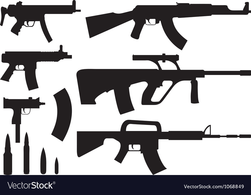 Rifles vector | Price: 1 Credit (USD $1)