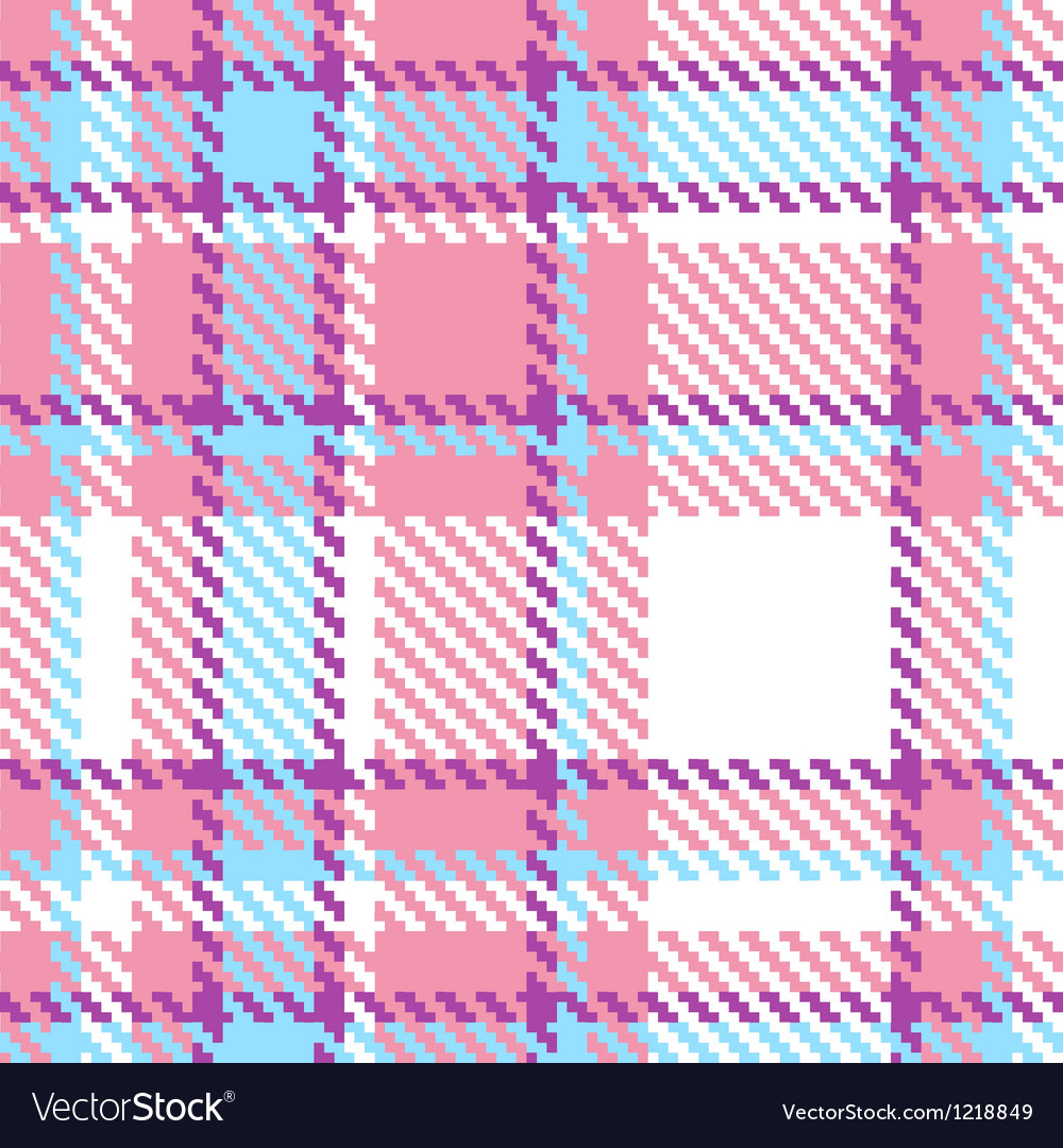Seamless plaid fabric pattern background vector | Price: 1 Credit (USD $1)