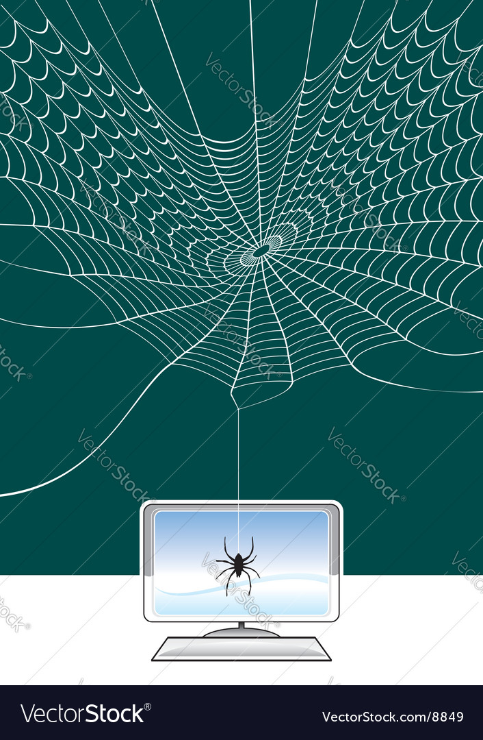 Spider web technology vector | Price: 1 Credit (USD $1)