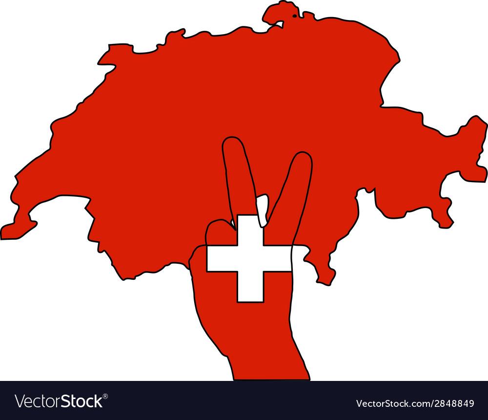 Switzerland hand signal vector | Price: 1 Credit (USD $1)