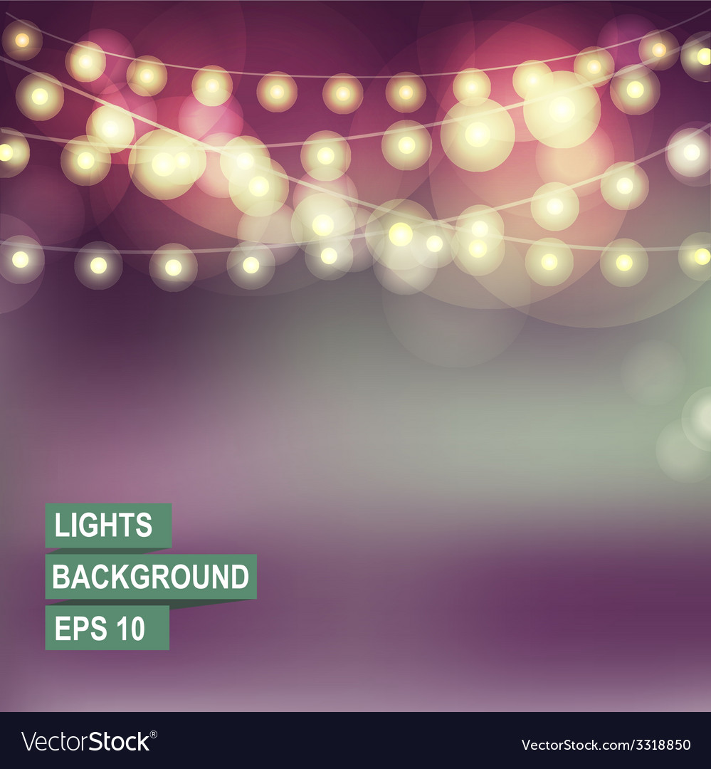 Bokeh garland lights vector | Price: 1 Credit (USD $1)
