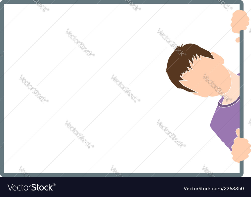 Boy silhouette in frame vector | Price: 1 Credit (USD $1)