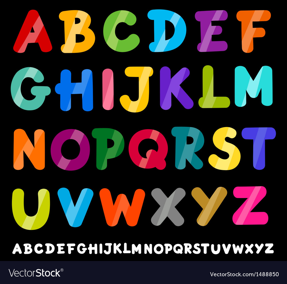 Capital letters alphabet cartoon vector | Price: 1 Credit (USD $1)