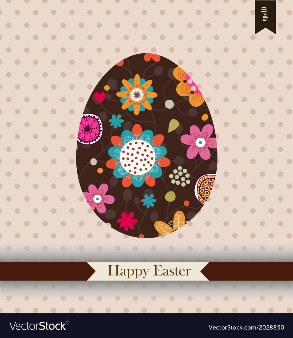 Easter greeting card with place for your text vector | Price: 1 Credit (USD $1)
