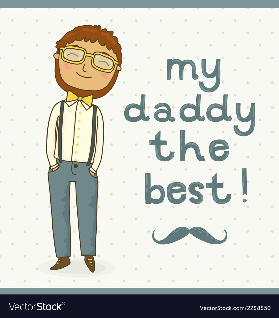 Father day greeting card vector | Price: 1 Credit (USD $1)