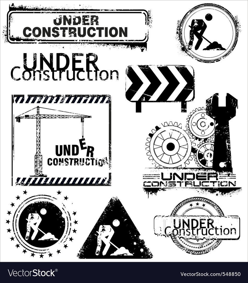 Grunge under construction vector | Price: 1 Credit (USD $1)