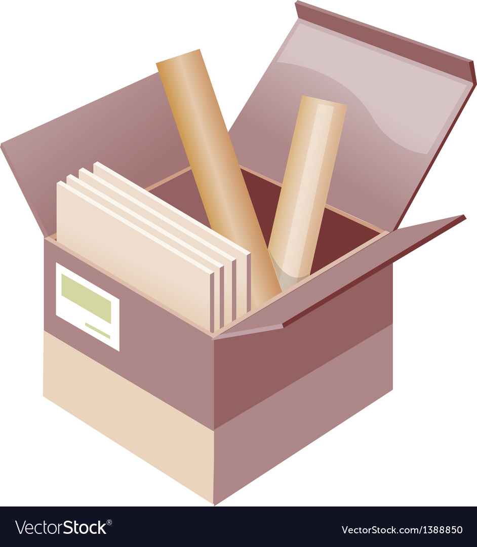 Icon box and roll of paper vector | Price: 1 Credit (USD $1)