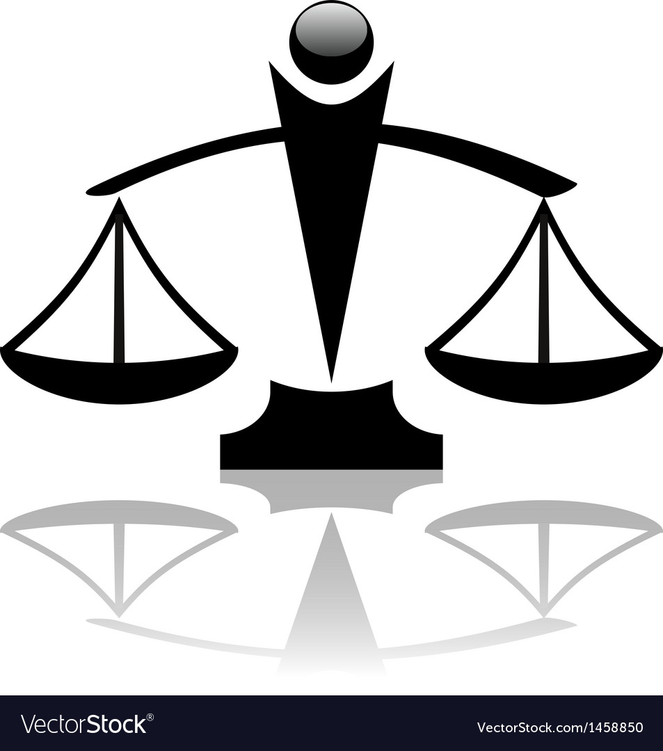 Justice scales icon vector | Price: 1 Credit (USD $1)