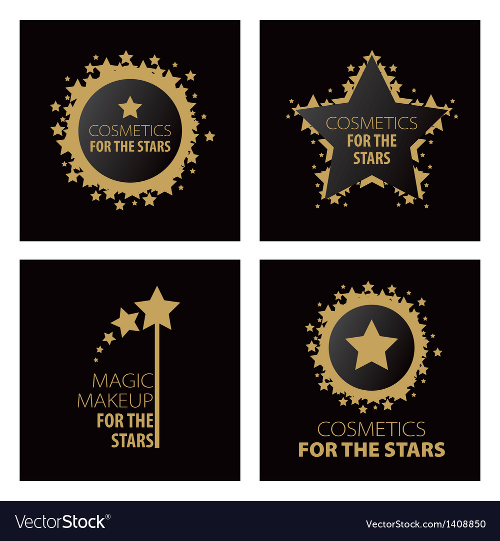 Logos magic makeup for the stars vector | Price: 1 Credit (USD $1)