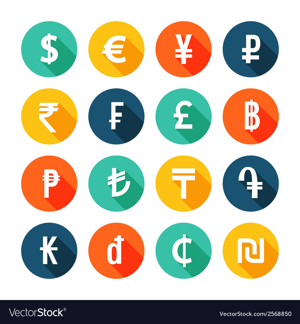Money icons set vector | Price: 1 Credit (USD $1)