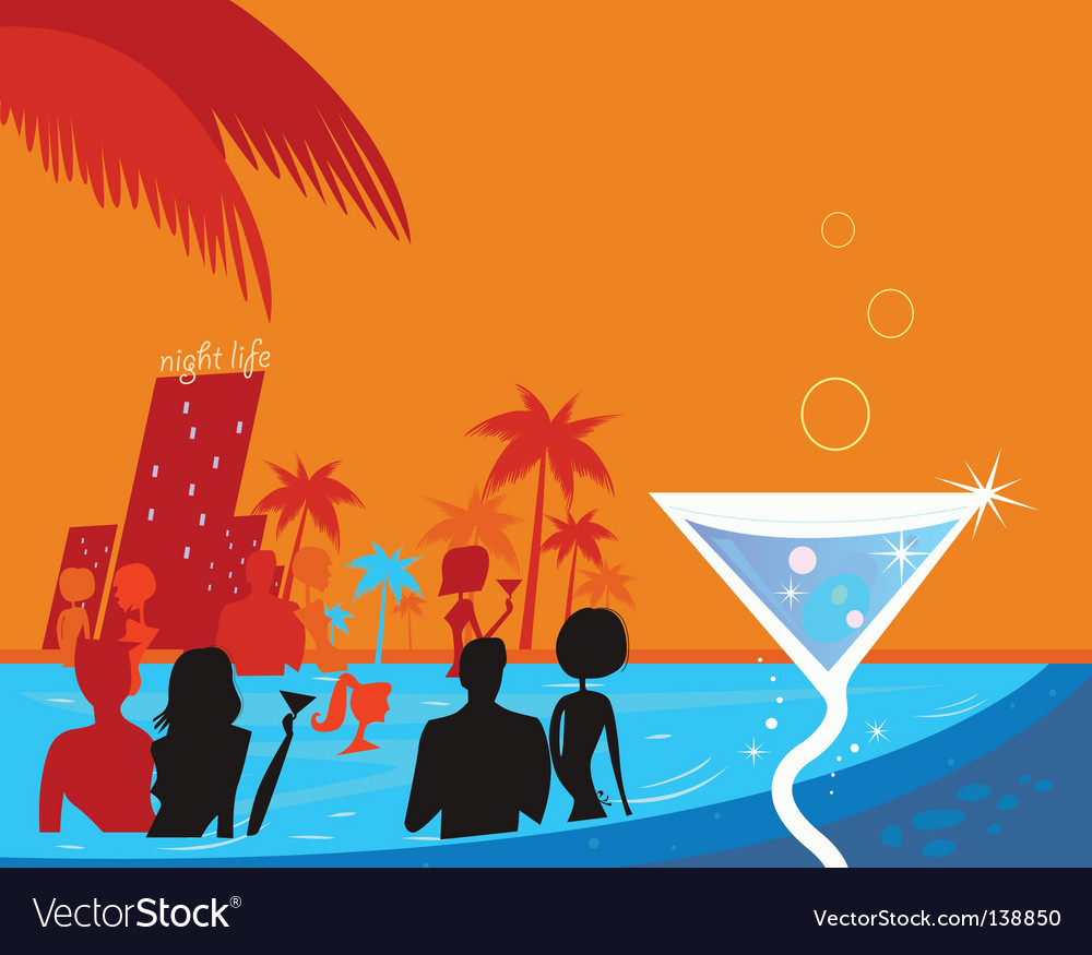 Pool party vector