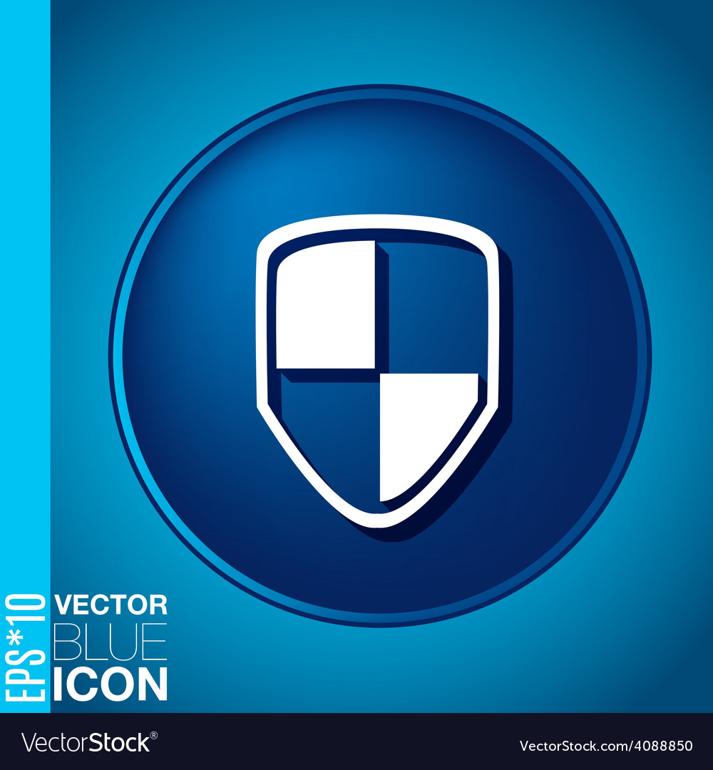 Protect shield icon vector | Price: 1 Credit (USD $1)