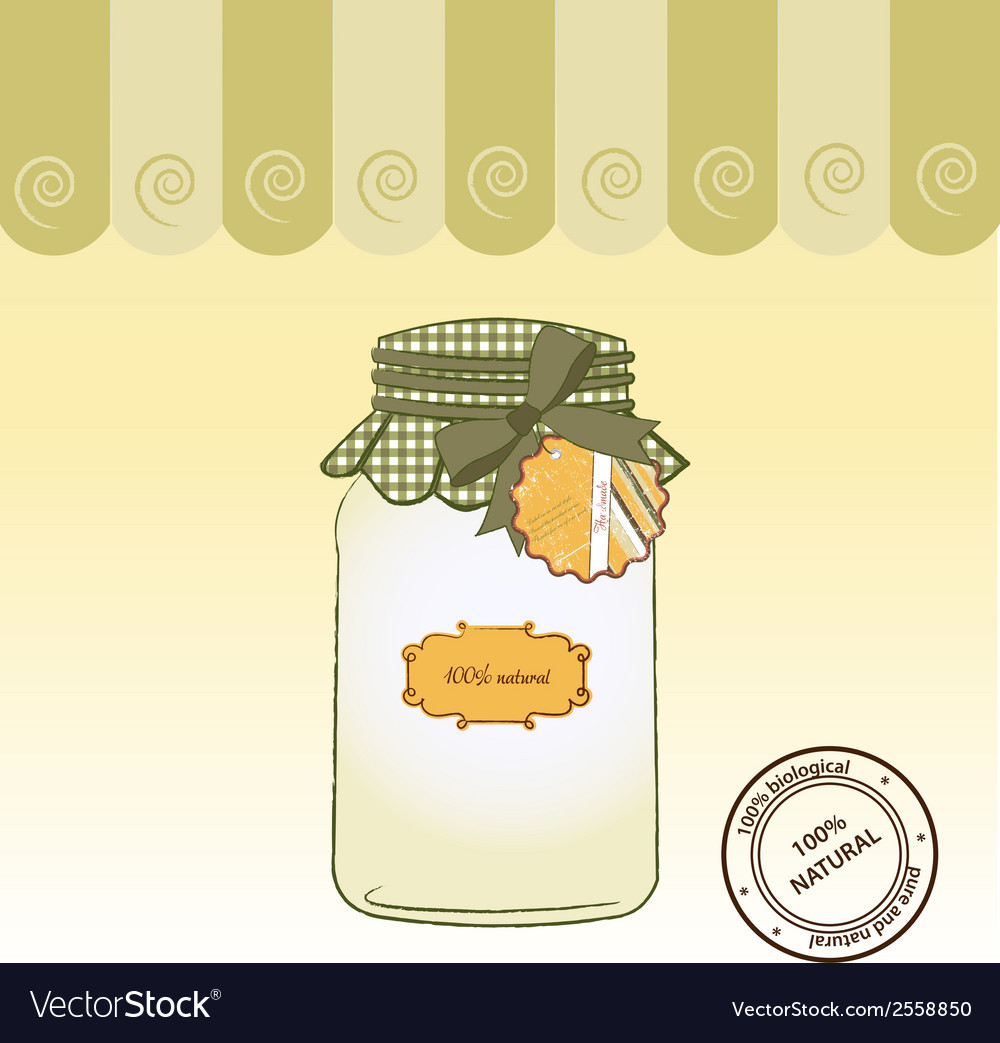 Pure biological food jar vector | Price: 1 Credit (USD $1)