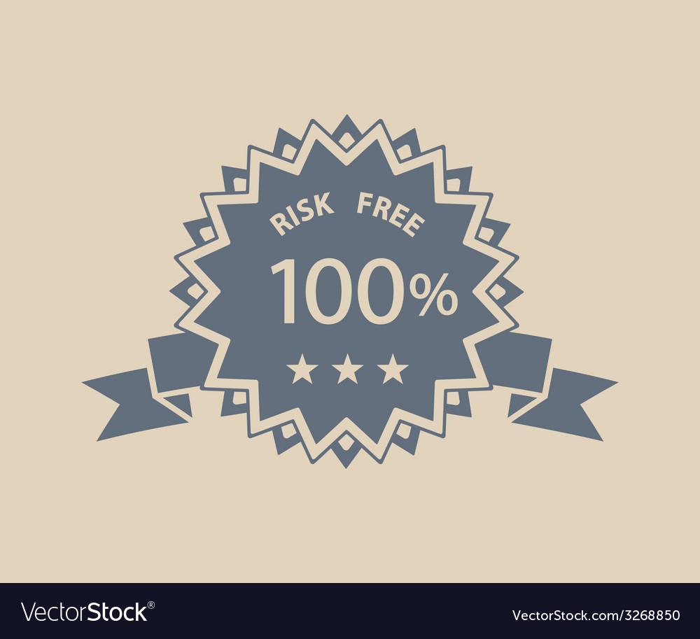 Risk free retro label vector | Price: 1 Credit (USD $1)