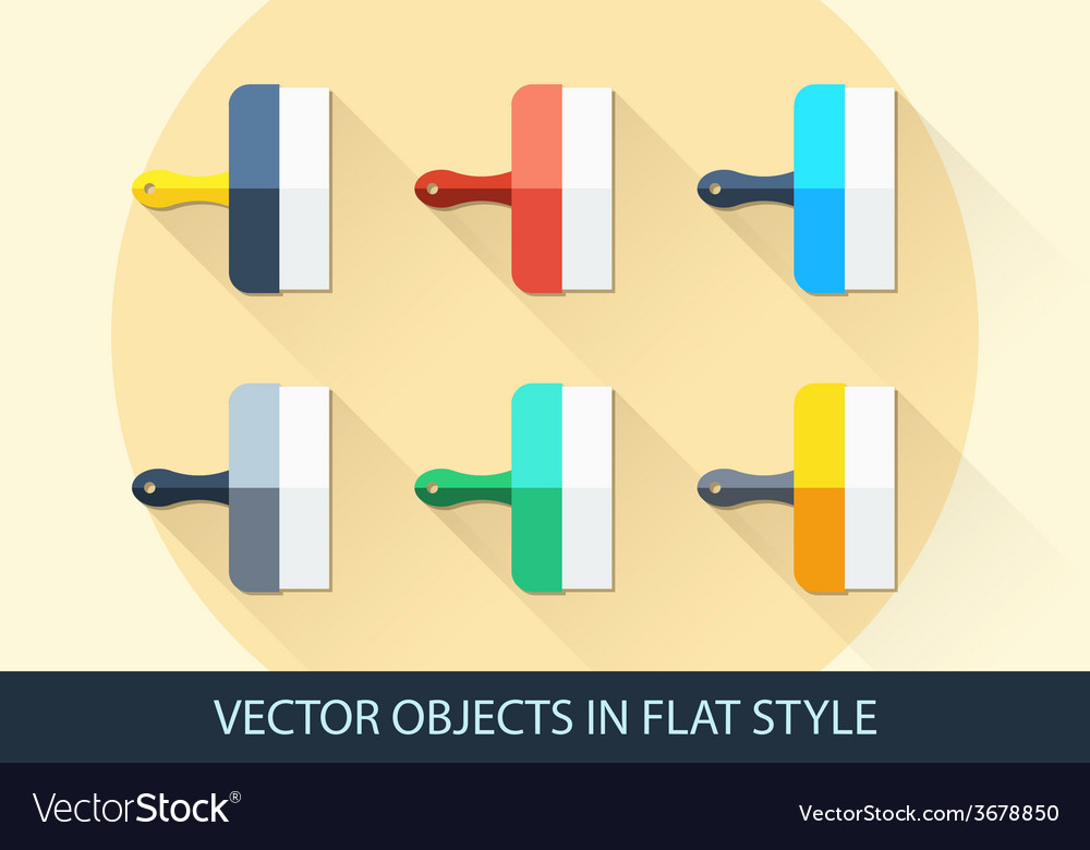 Set of spatula in a flat style with shadow vector | Price: 1 Credit (USD $1)