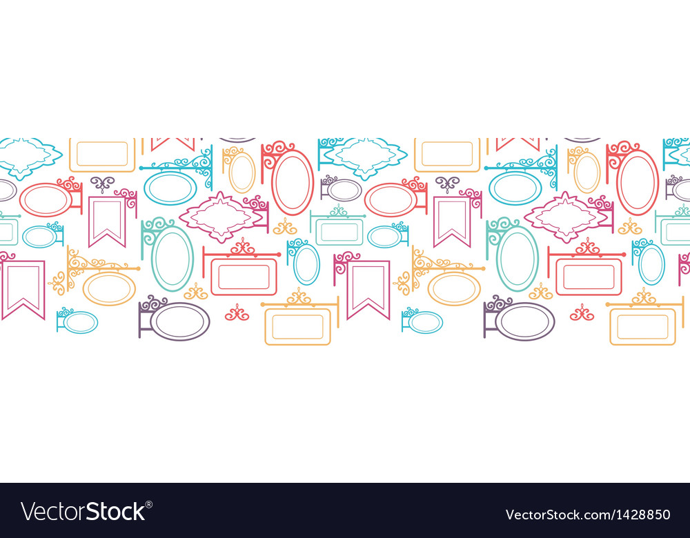 Street signs horizontal seamless pattern vector | Price: 1 Credit (USD $1)