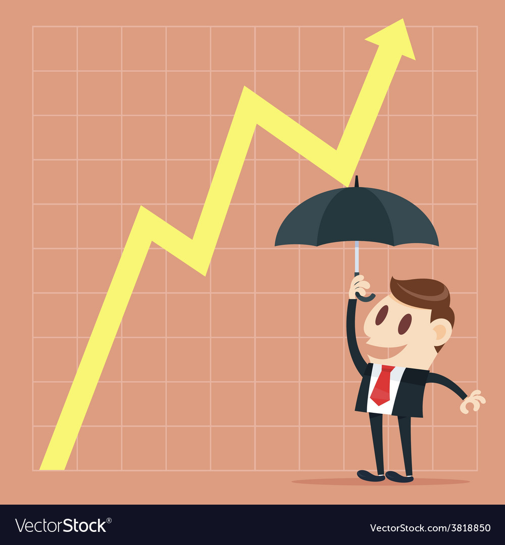 Up yellow arrow economic growth vector | Price: 1 Credit (USD $1)