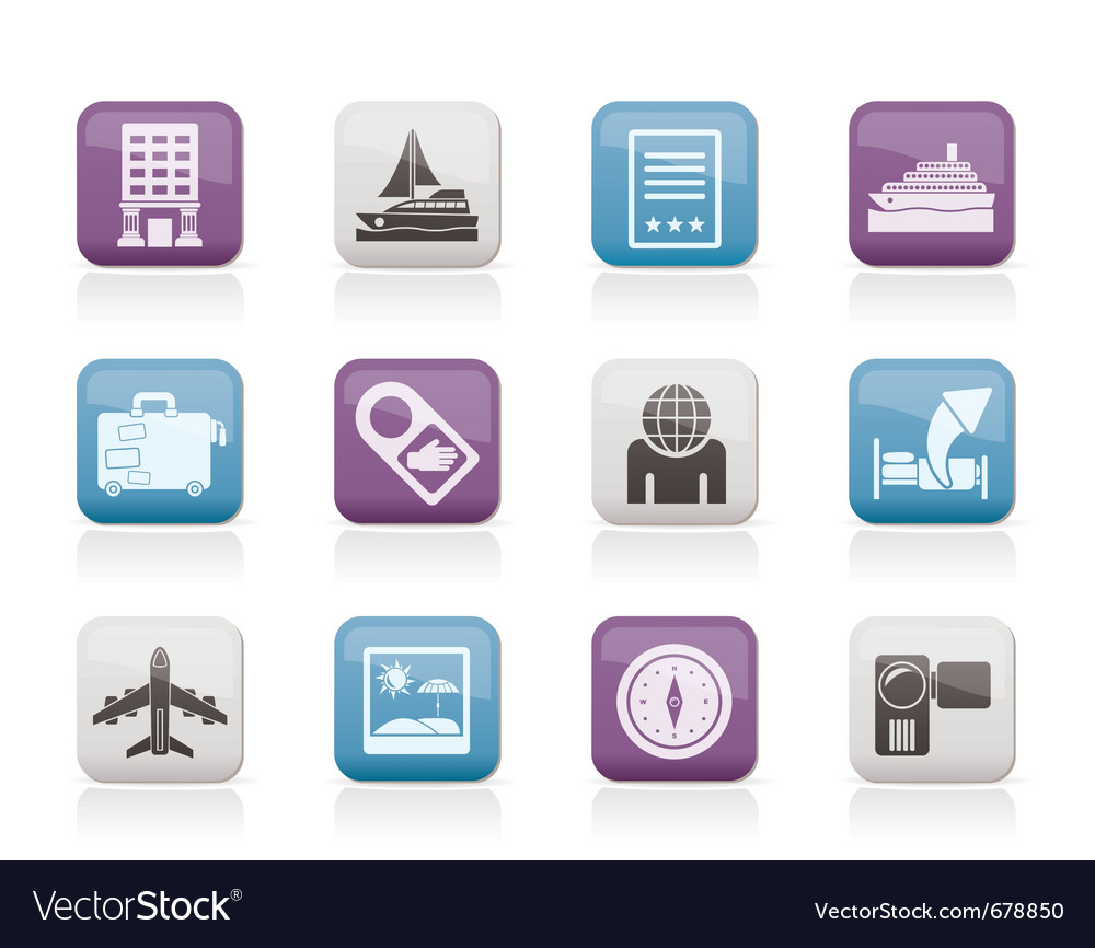 Vacation and holidays icon vector | Price: 1 Credit (USD $1)