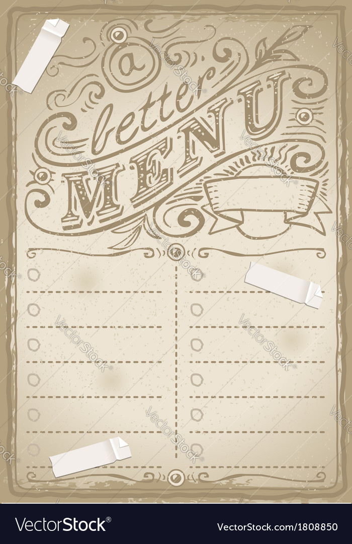 Vintage graphic page for fish menu vector | Price: 1 Credit (USD $1)