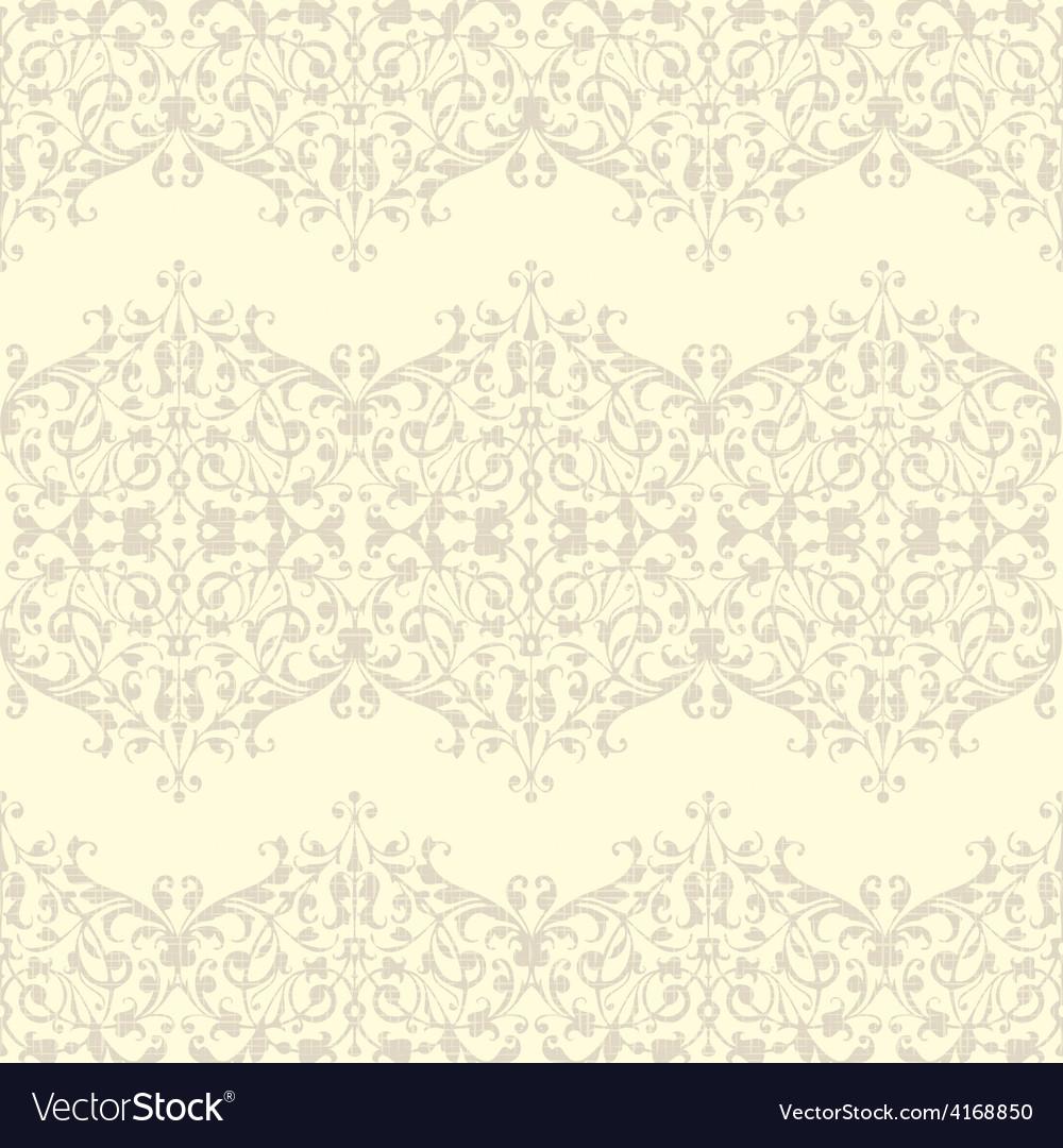 Vintage seamless floral linen pattern vector | Price: 1 Credit (USD $1)