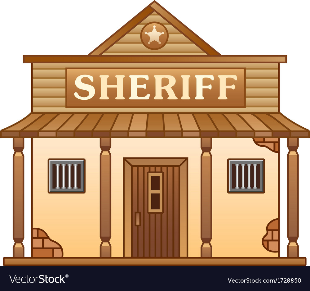 Wild west sheriffs office vector | Price: 1 Credit (USD $1)
