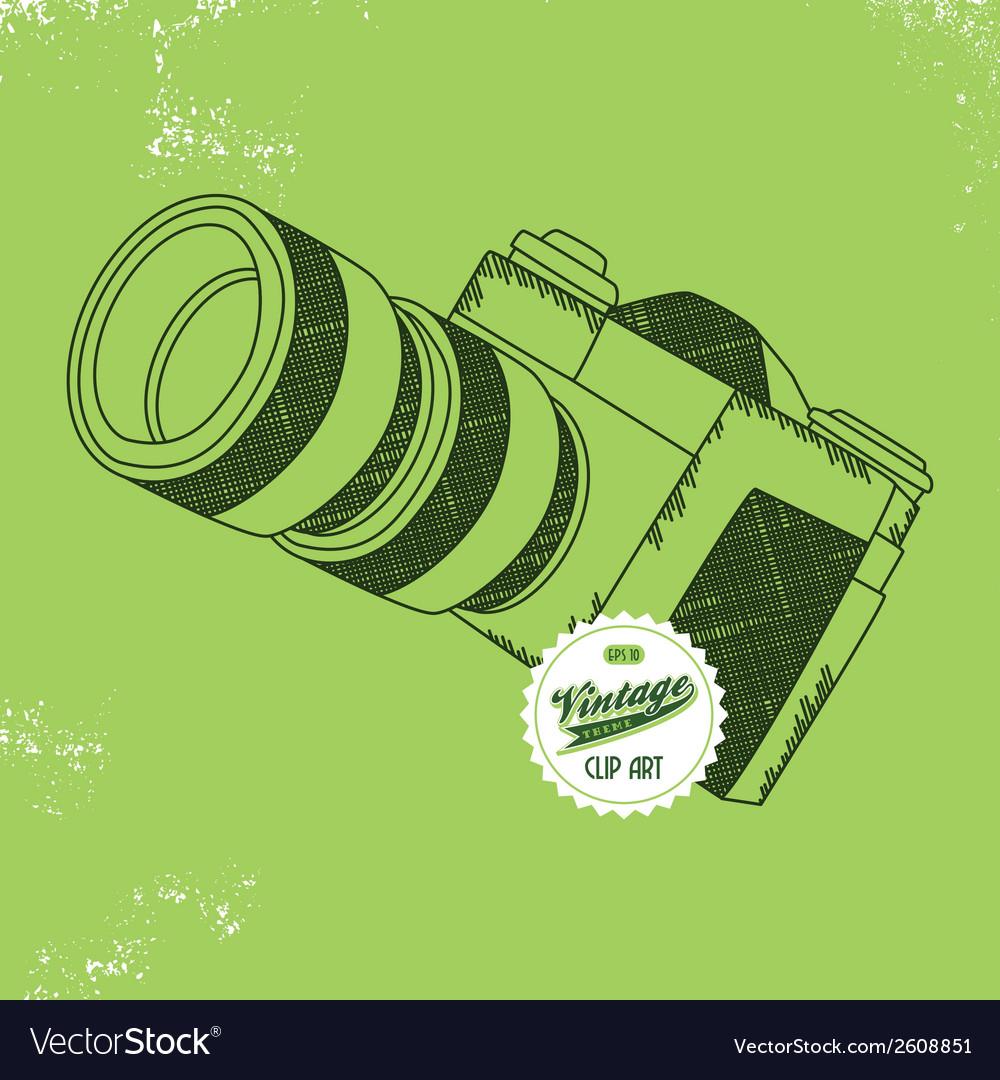 Camera design element vector