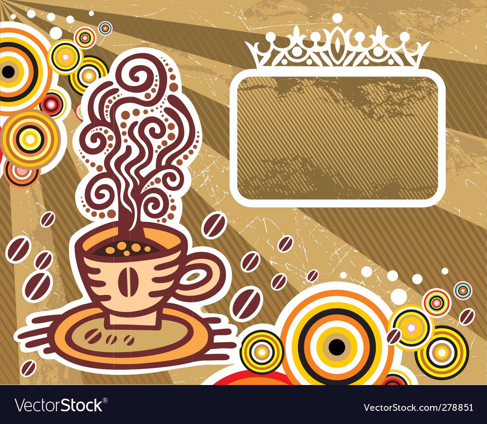 Coffee frame vector | Price: 1 Credit (USD $1)
