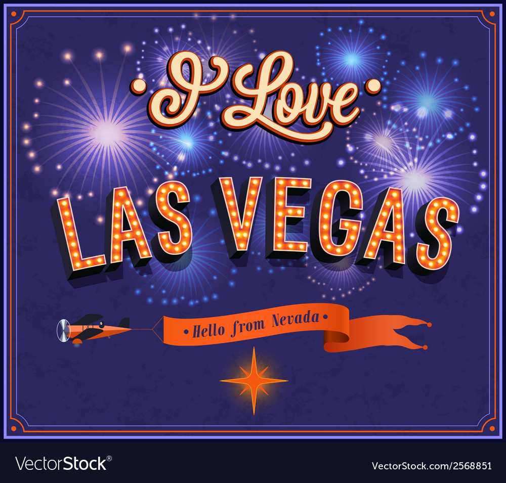 Greeting card from las vegas - nevada vector | Price: 1 Credit (USD $1)