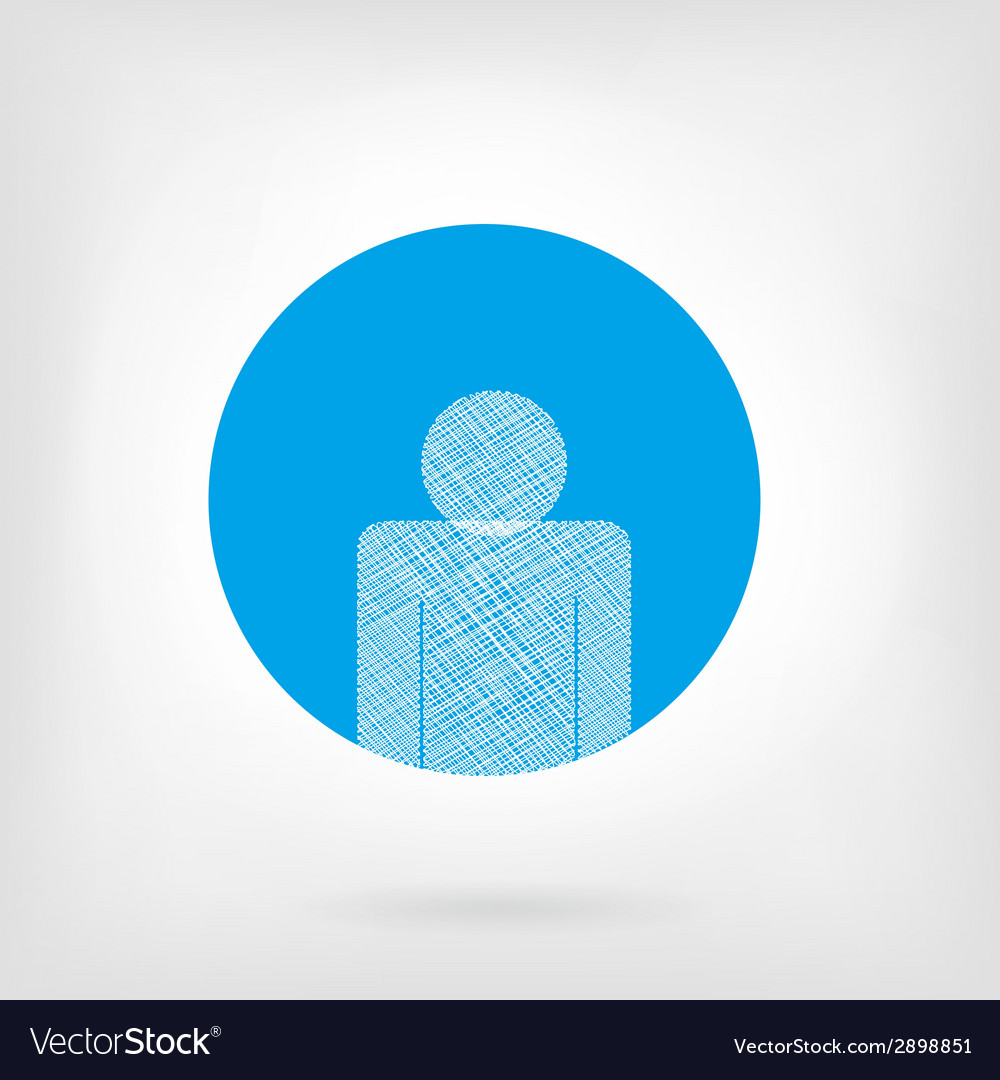 Human icon in flat and doodle style vector | Price: 1 Credit (USD $1)