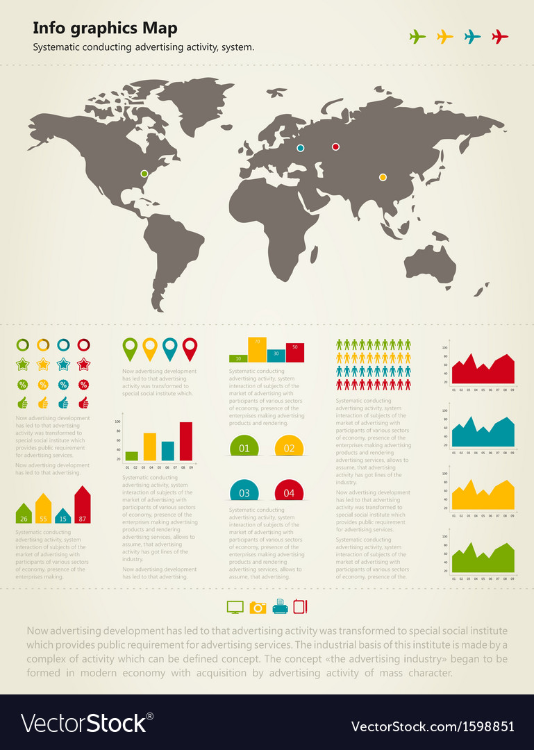 Info graphic map vector | Price: 1 Credit (USD $1)