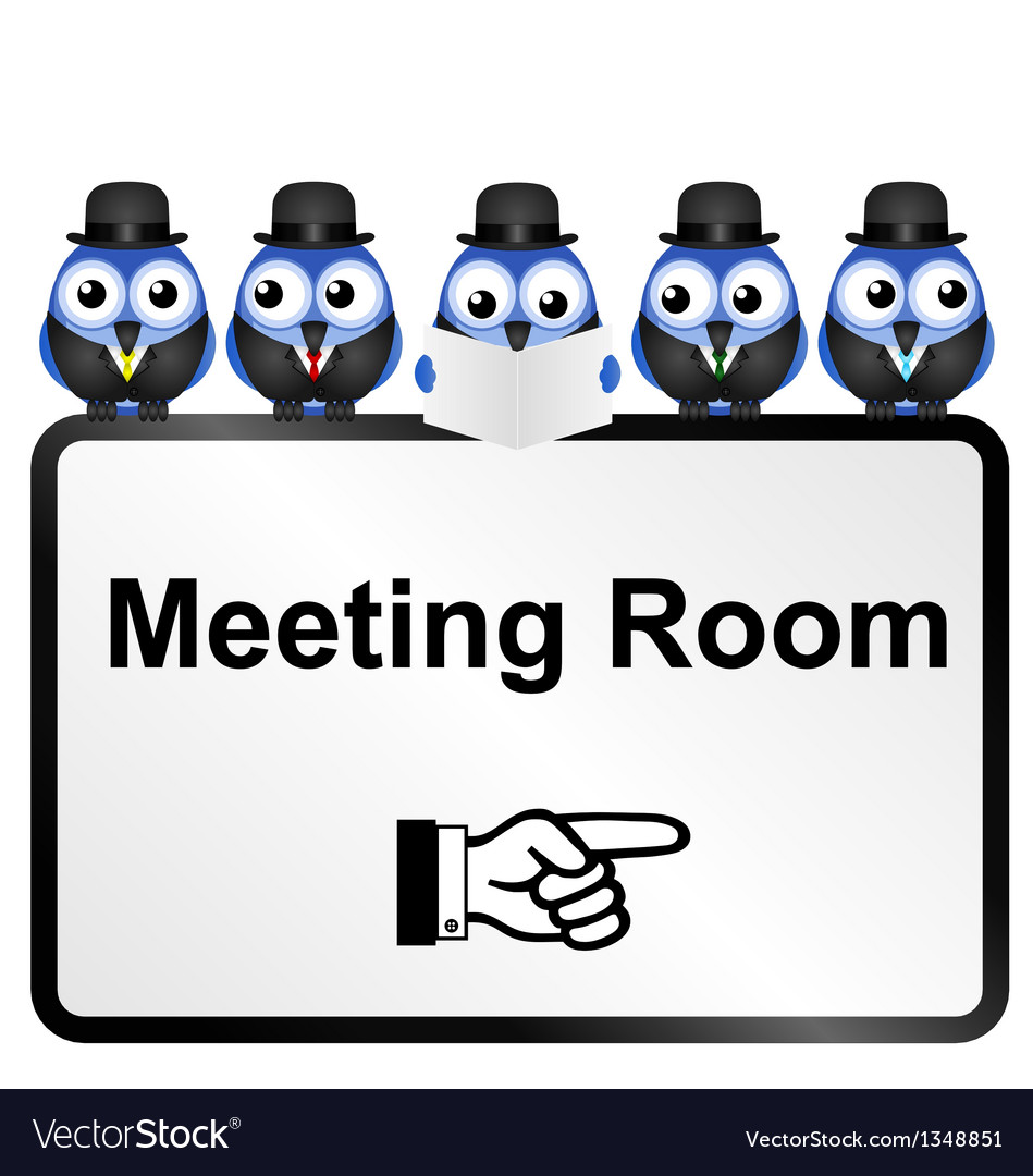 Meeting room sign vector | Price: 1 Credit (USD $1)