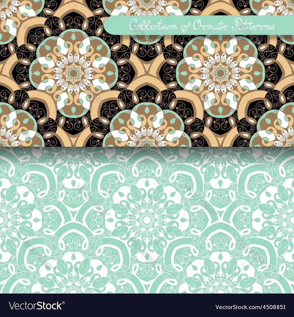Set of 2 seamless vintage patterns vector | Price: 1 Credit (USD $1)
