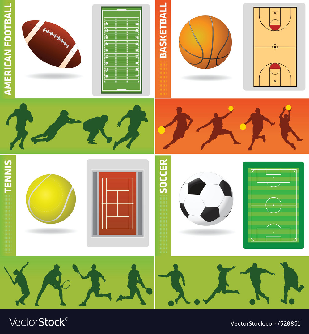 Sport field ball and design vector | Price: 1 Credit (USD $1)