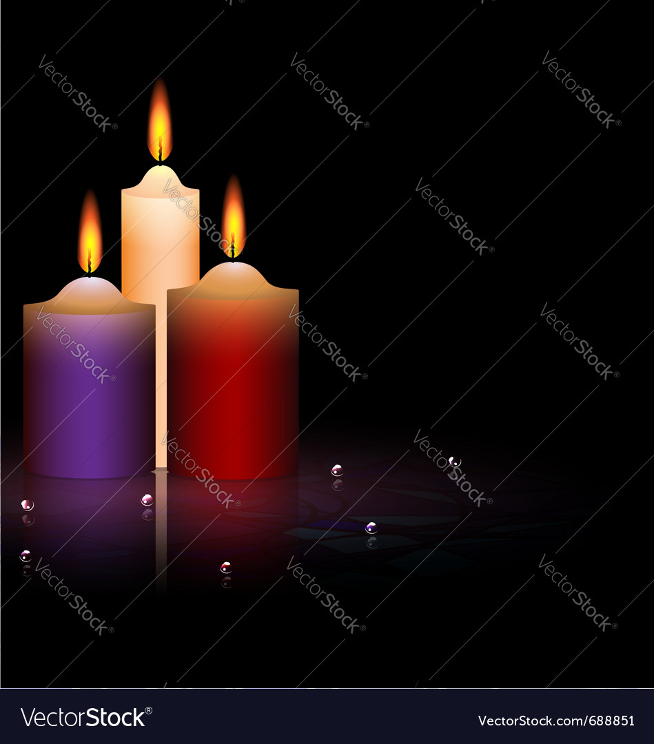 Three candles vector | Price: 1 Credit (USD $1)