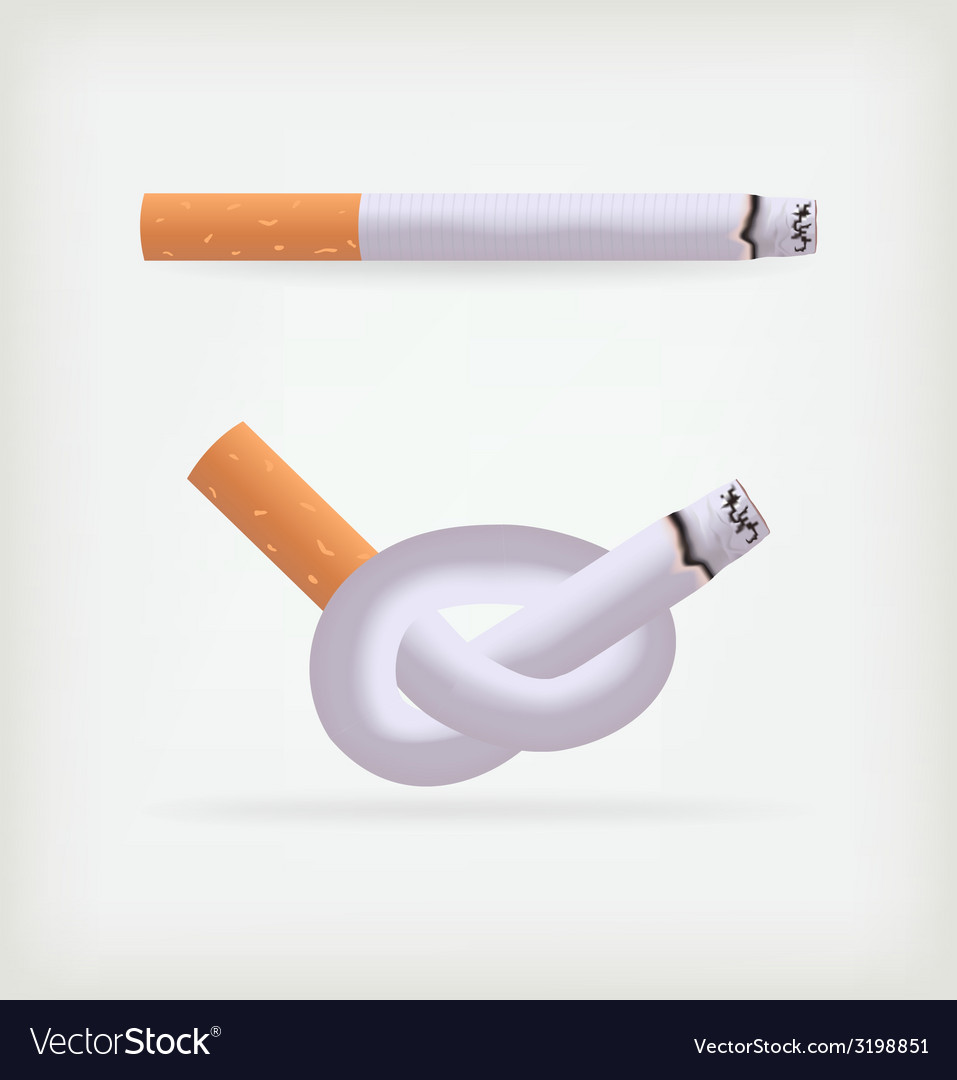Two cigarettes vector | Price: 1 Credit (USD $1)