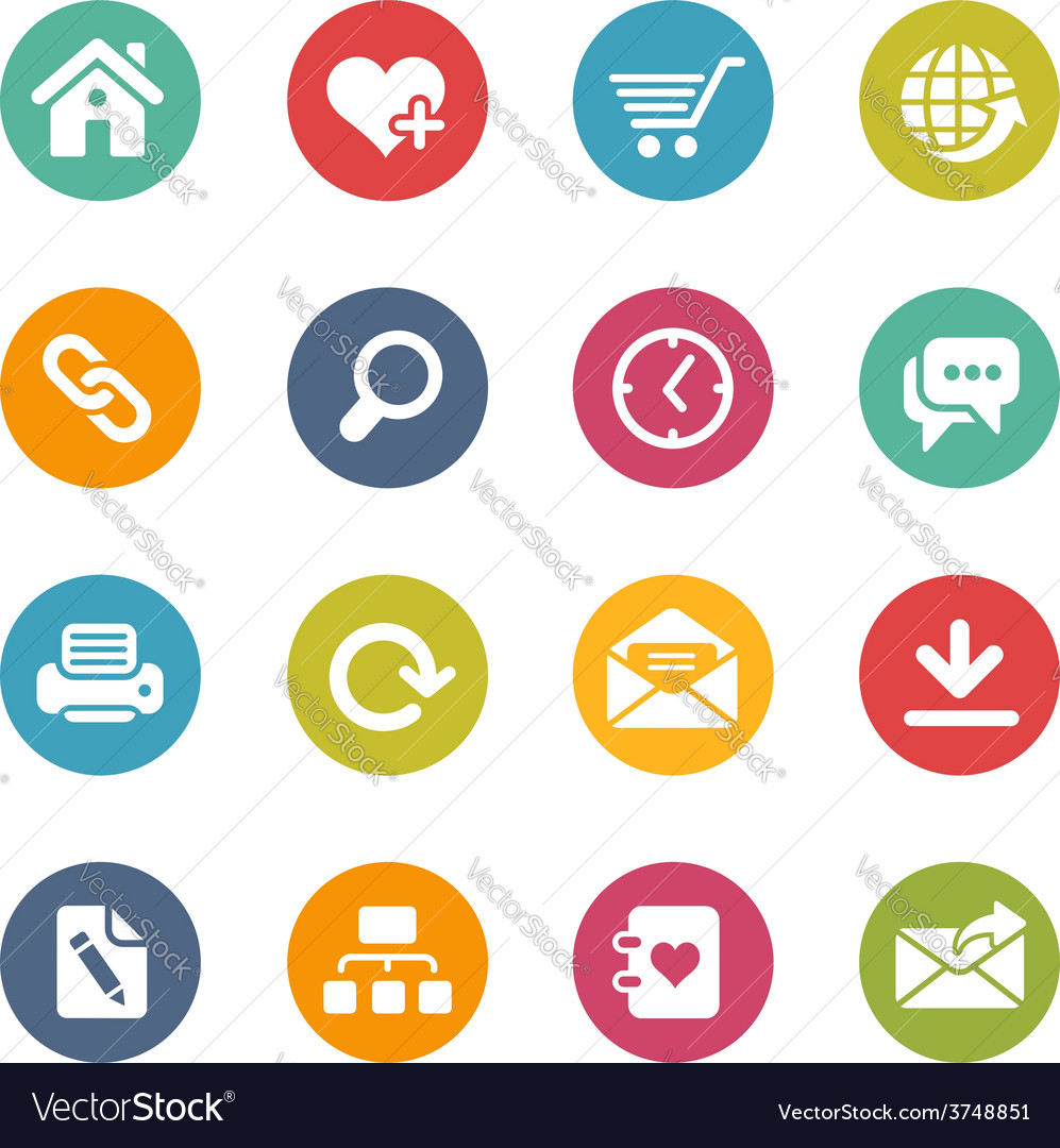 Web site icons vector | Price: 1 Credit (USD $1)