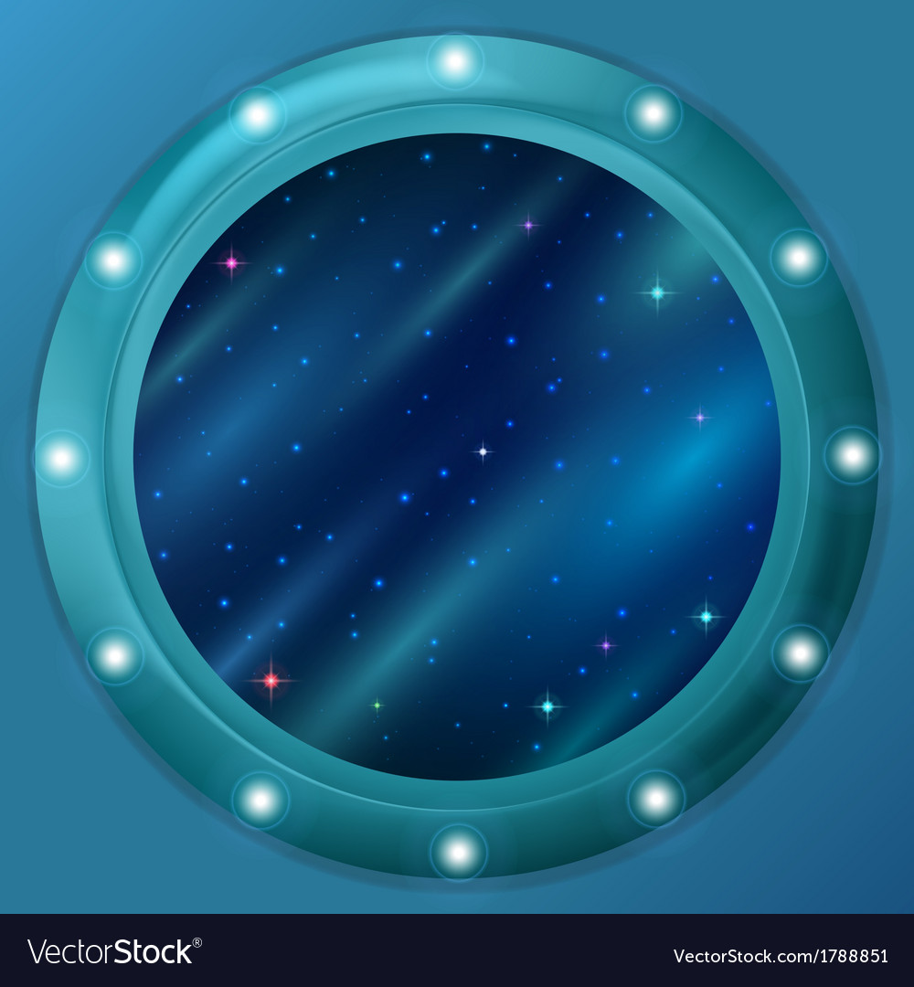 Window with stars and nebulas vector | Price: 1 Credit (USD $1)