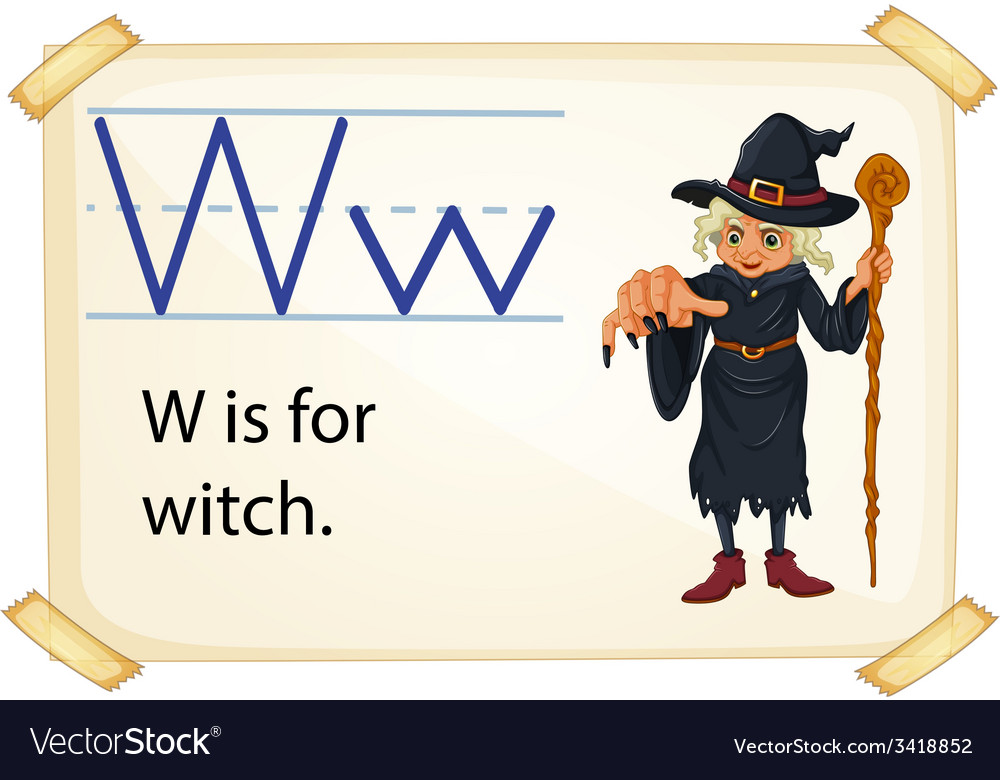 A letter w for witch vector | Price: 1 Credit (USD $1)