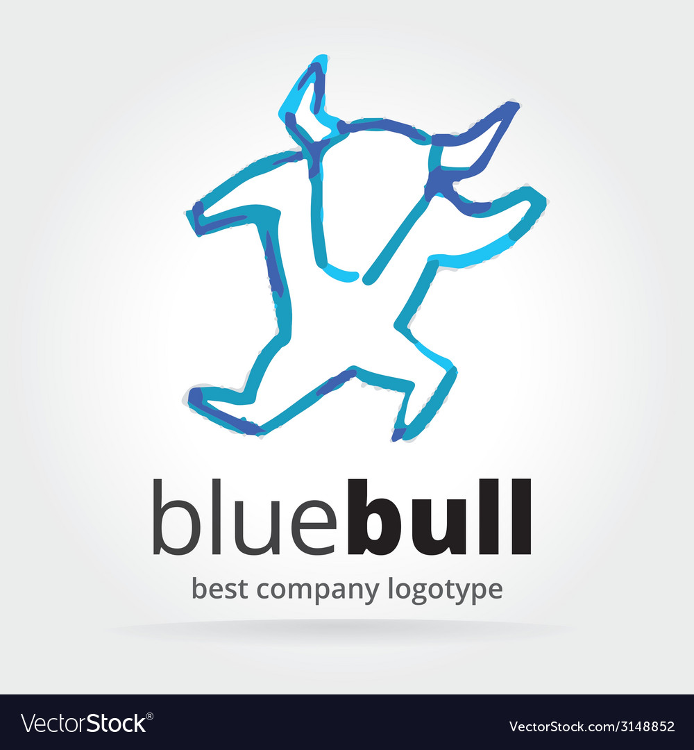 Abstract dancing bull logotype isolated on white vector | Price: 1 Credit (USD $1)