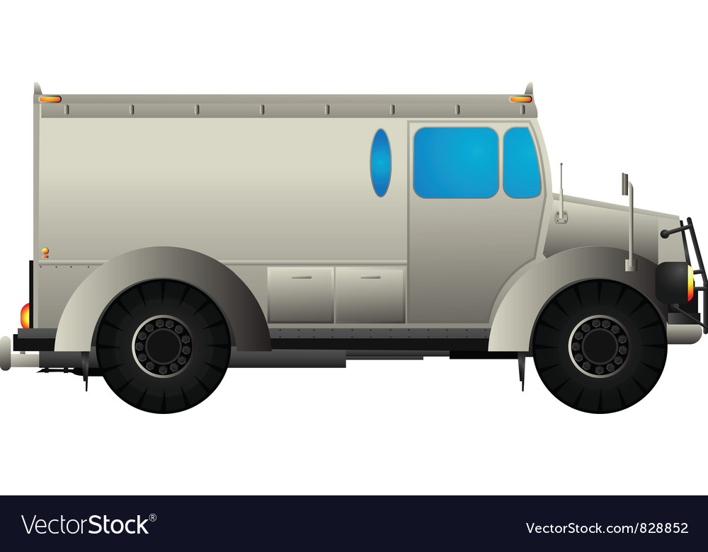 Armored car vector | Price: 1 Credit (USD $1)