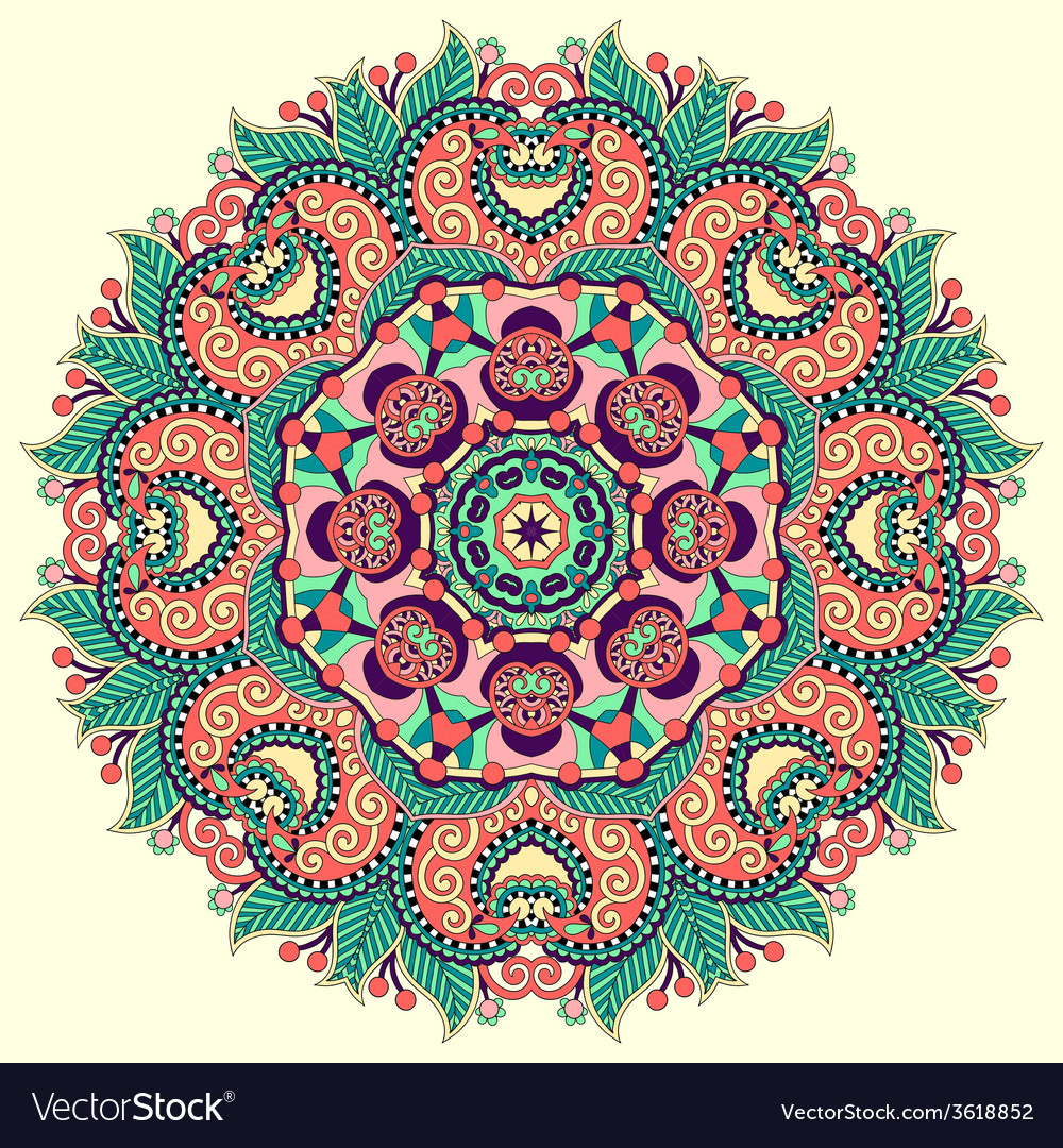 Beautiful vintage circular pattern of arabesques vector | Price: 1 Credit (USD $1)