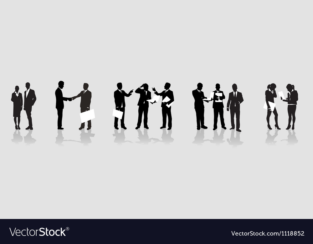 Business people line vector | Price: 1 Credit (USD $1)