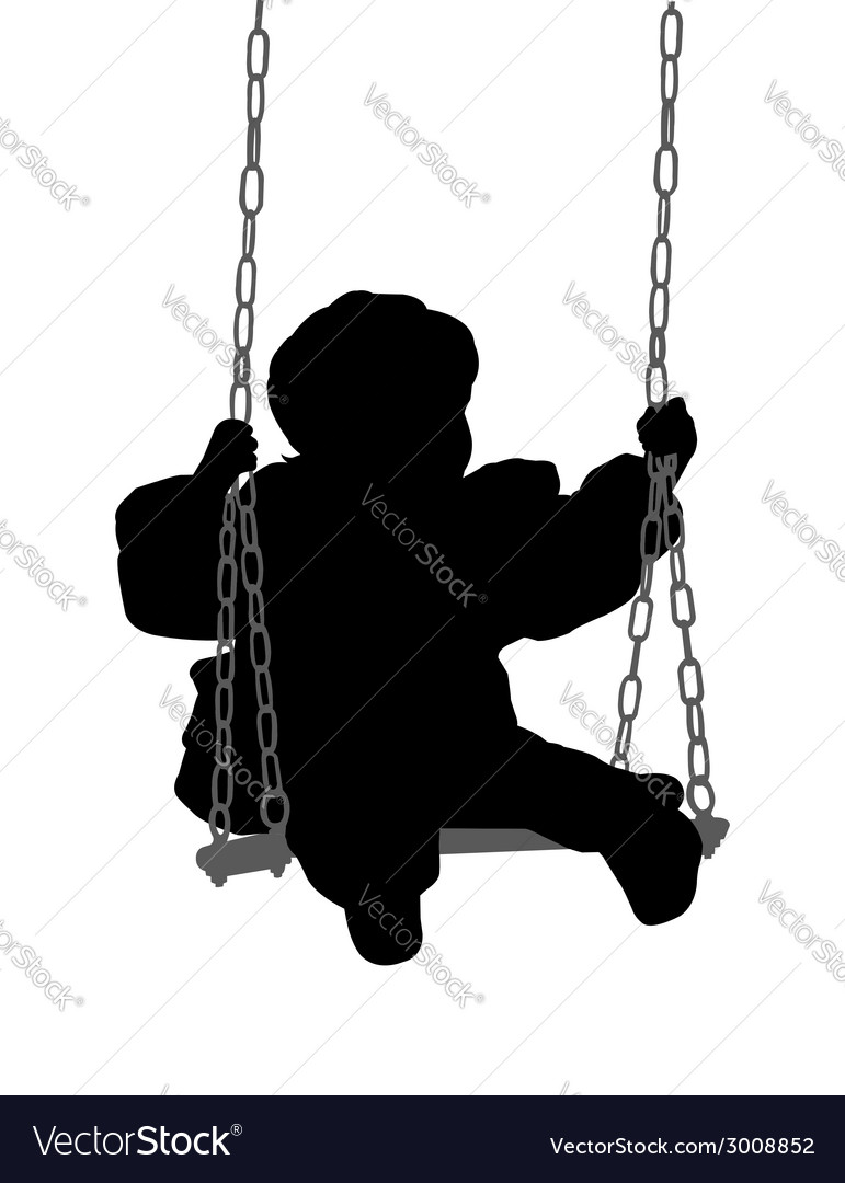 Child swinging vector | Price: 1 Credit (USD $1)