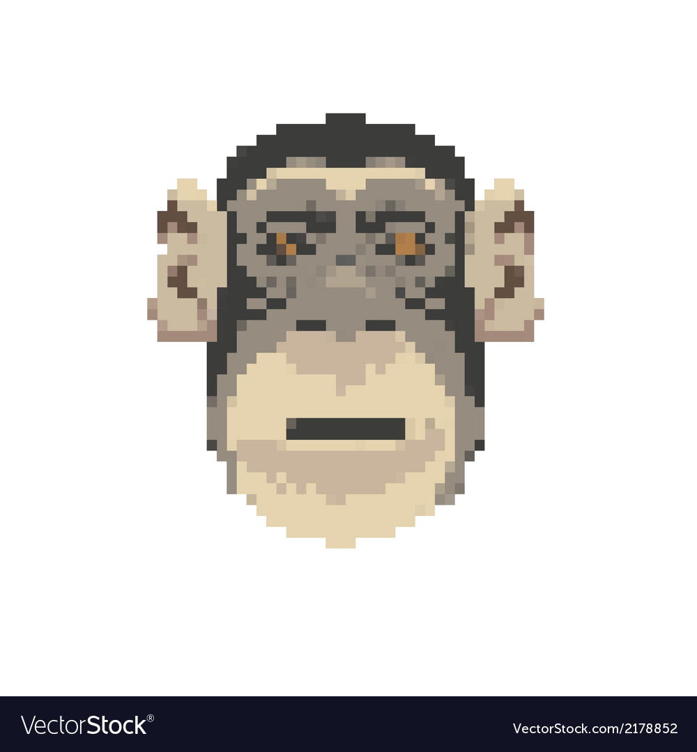 Monkey abstract isolated vector | Price: 1 Credit (USD $1)