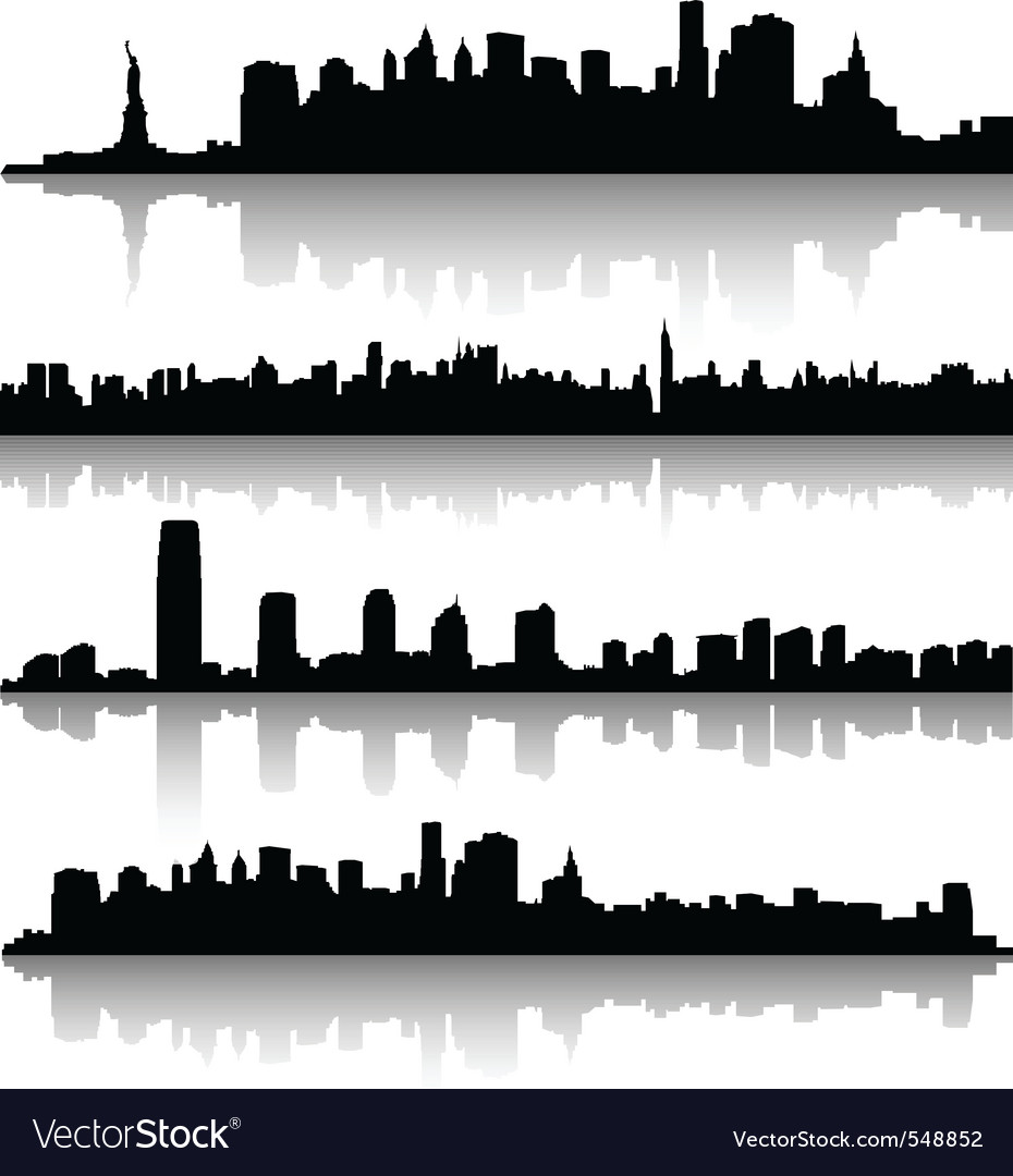 New york city silhouette vector | Price: 1 Credit (USD $1)